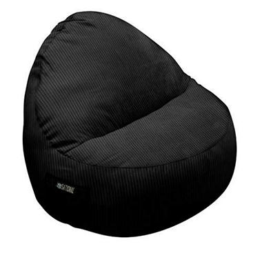 Two-Seater Sitsational Chair - Black Cordouroy