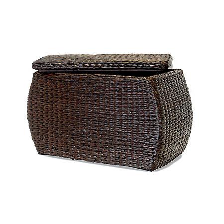 Rectangular Storage Ottoman W/Lid - Espresso