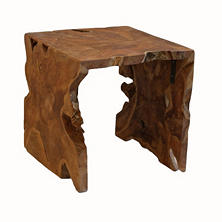 Teak Wood Square Side Table