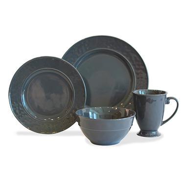 Baum 32-Piece Hammered Charcoal Dinnerware Set - Sam\'s Club