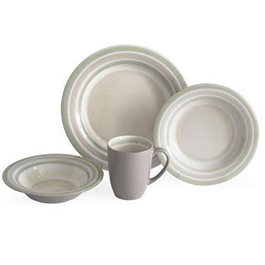 Baum 32-Piece Crackle Metallic Dinnerware Set - Sam\'s Club