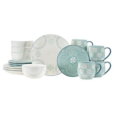 16-Piece Olivia Dinnerware Set (Assorted Colors)
