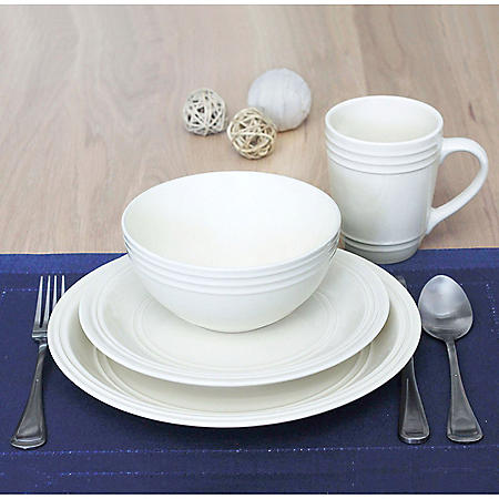 16-Piece Tara Dinnerware Set (Assorted Colors)