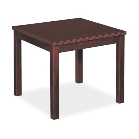 Basyx Occasional Table, Square, 24w x 24d x 20h, Mahogany