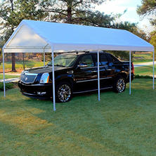 Replacement Canopy - White - 10u0027 ... & Canopies u0026 Carport Tents - Samu0027s Club