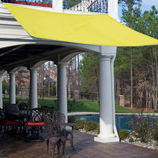 King Canopy Quadrilateral Sun Shade Sail - Yellow - 10' x 10'