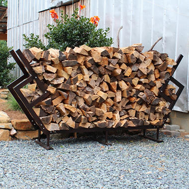LG FIREWOOD RACK LARGE RACK & COVER