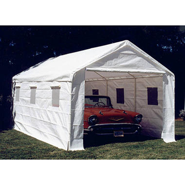 10 8 X 20 Enclosed Canopy With Sidewalls
