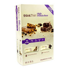 thinkThin High Protein Bars 15-Count Variety Pack