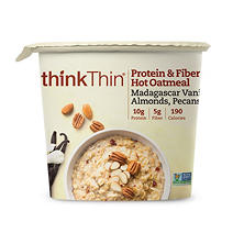 thinkThin Protein & Fiber Madagascar Vanilla Hot Oatmeal (1.76 oz. ea.,6 ct.)