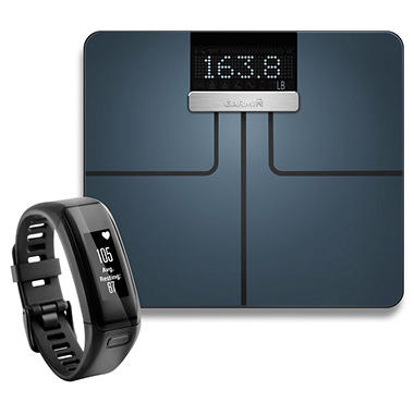 Garmin Fitness Bundle Index Smart Scale and Vivosmart HR Bundle