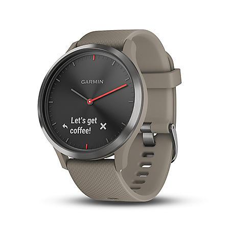 Garmin vívomove HR Smartwatch (Sandstone) with Slate Hardware