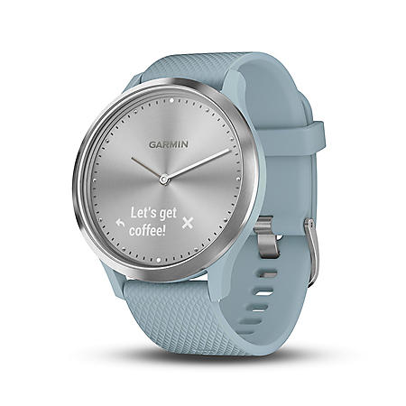 Garmin vívomove HR Smartwatch (Sea Foam) with Silver Hardware
