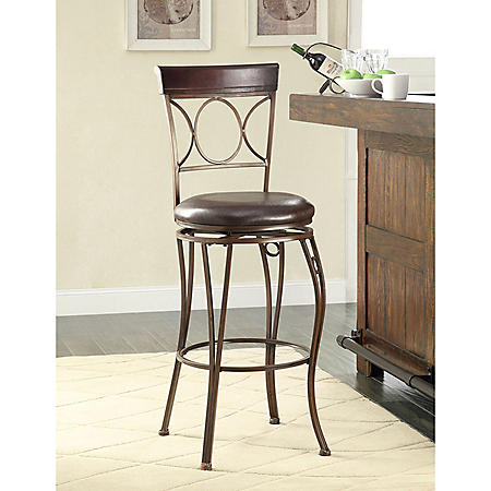 Circle Scroll-Back Bar Stool (Assorted Sizes)