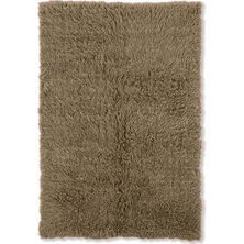 Flokati New Shag Rug, Mushroom (Assorted Sizes)