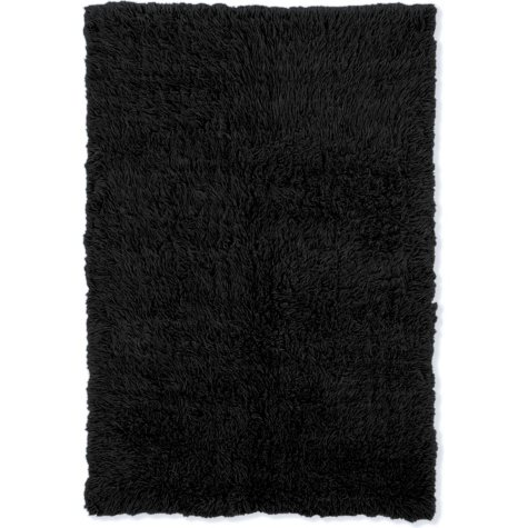 Flokati New Shag Rug, Black (Assorted Sizes)