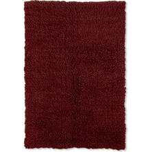 Flokati New Shag Rug, Burgundy (Assorted Sizes)