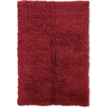 Flokati New Shag Rug, Red (Assorted Sizes)