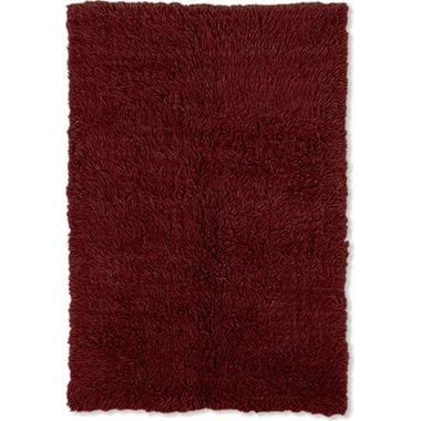 Flokati Shag Rug, Burgundy (Assorted Sizes)