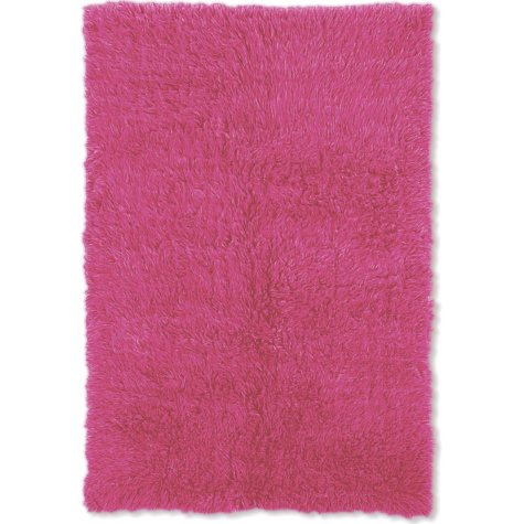 Flokati New Shag Rug, Fuchsia (Assorted Sizes)