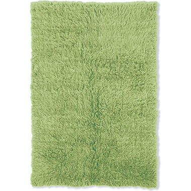 Flokati New Shag Rug, Lime (Assorted Sizes)