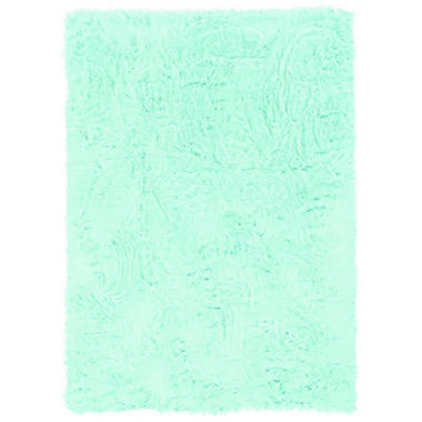 Faux Sheepskin Rug, Blue (Assorted Sizes)