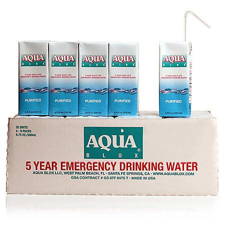 Aqua Blox Emergency Drinking Water (6.75 oz., 32 ct.)