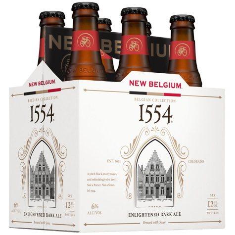 New Belgium 1554 Black Lager (12 fl. oz. bottle, 6 pk.)
