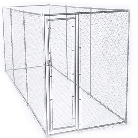 Lucky Dog Galvanized Chain Link with PC Frame, Kit in a Box (15'L x 5'W x 6'H or 10'L x 10'W x 6'H)