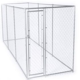 Lucky Dog Galvanized Chain Link w/ PC Frame, Kit in a Box - 15'L x 5'W x 6'H or 10'L x 10'W x 6'H