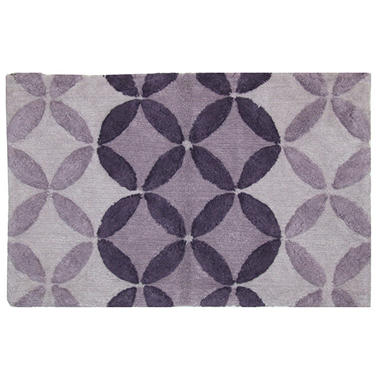 Bacova Purple Circles Cotton Rug (21