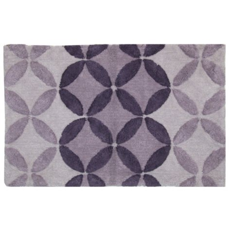 "Bacova Purple Circles Cotton Rug (21"" x 34"")"