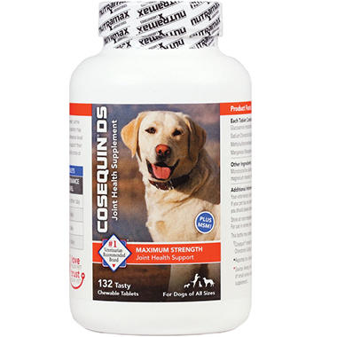 Cosequin DS Plus MSM Joint Health Supplement for Dogs - 132 Chewable Tablets