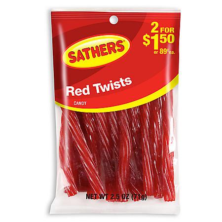 OFFLINE-Sathers Red Twists (2.50 oz. bag, 12 ct.)