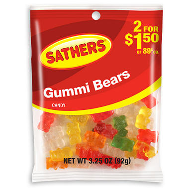 Sathers Gummi Bears (3.25 oz. bag, 12 ct.)