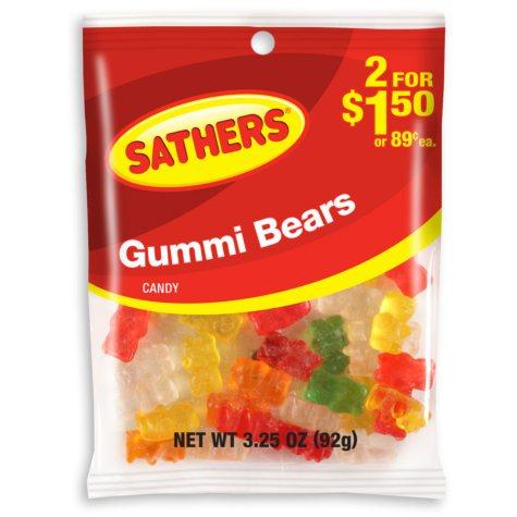 Sathers Gummi Bears (3.25 oz. bag, 12 ct.)