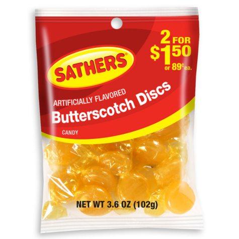 Sathers Butterscotch (3.6 oz. bag, 12 ct.)