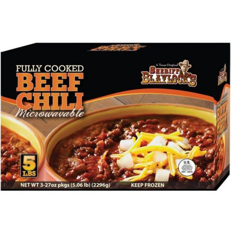 Sheriff Blaylock Premium Beef Chili - 27 oz. packages - 3 ct.