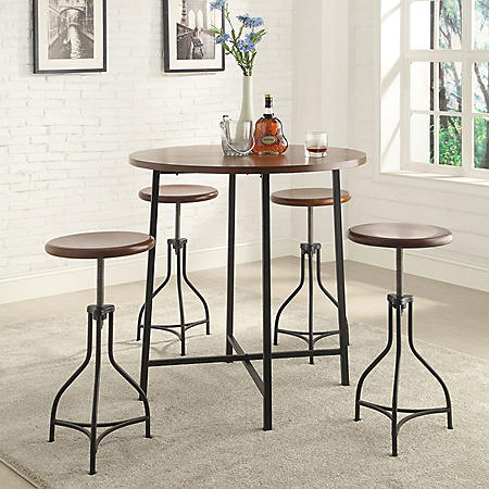 Ryan Counter Height Table and 4 Stools Bar Set