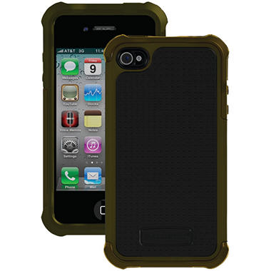 Ballistic Shell Gel SG Series Case for iPhone 4/4s - Olive Green/Black