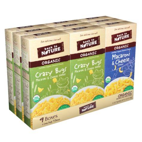 Back to Nature Organic Macaroni and Cheese (6 oz. pks., 9 ct.)