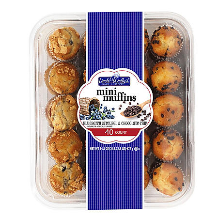 Uncle Wally's Blueberry and Chocolate Mini Muffins (40 ct.)