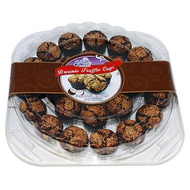Uncle Wally's Toasted Coconut Brownie Truffle Cups (1 lb. 8 oz.)