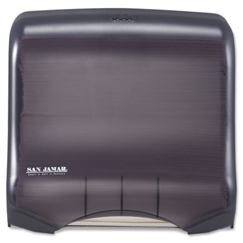 San Jamar Classic Mini C-Fold & Multi-Fold Dispenser, Translucent Black