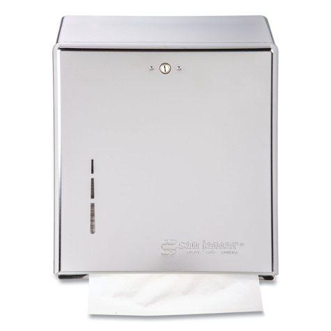 San Jamar C-Fold or Multi-Fold Lockable Towel Dispenser