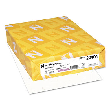 Neenah Astrobrights Colored Card Stock, 65 lb, 8 1/2 x11, Stardust White, 250 Sheets