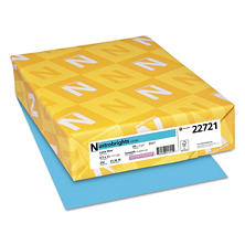 Neenah Astrobrights Colored Card Stock, 65 lb, 8 1/2 x 11, Select Color, 250 Sheets