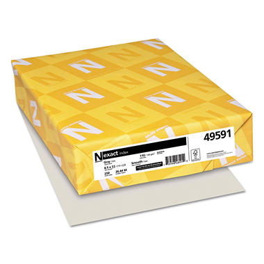 Neenah Paper - Exact Index Card Stock, 110 lbs., 8-1/2 x 11, Gray -  250 Sheets/Pack
