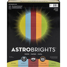 "Astrobrights Color Paper, 24 lb., 8.5"" x 11"", ""Everyday"" 5-Color Assortment, 500 Sheets"