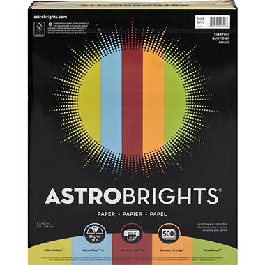 Astrobrights Color Paper, 24 lb., 8.5